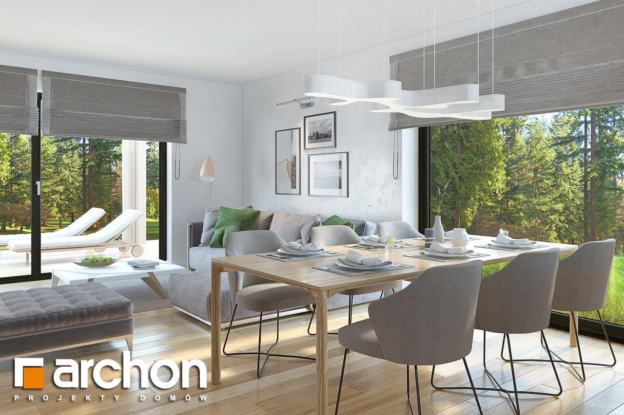 Проект будинку ARCHON+ Будинок під горобиною 8 (ГН)  денна зона (візуалізація 1 від 4)