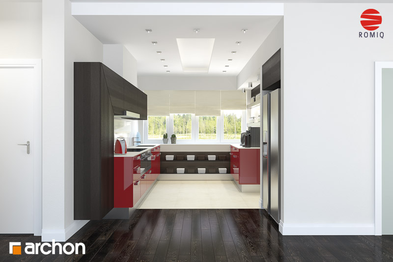 Проект будинку ARCHON+ Будинок в акебіях (В) аранжування кухні 2 від 2