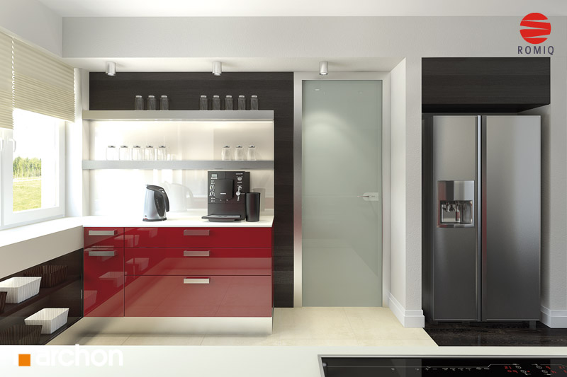 Проект будинку ARCHON+ Будинок в акебіях (В) аранжування кухні 2 від 3