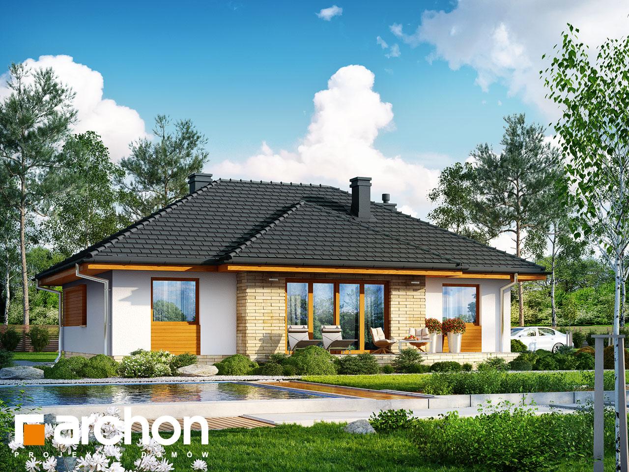 Проект будинку ARCHON+ Будинок в акебіях (В) Вид 2