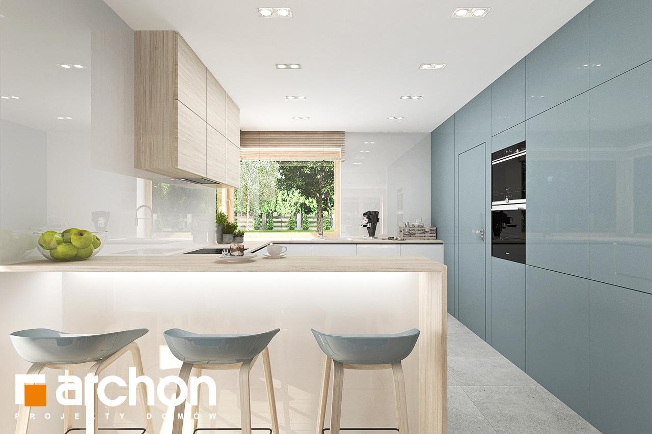 Проект будинку ARCHON+ Будинок у гортензіях 2 (Г2) візуалізація кухні 1 від 1