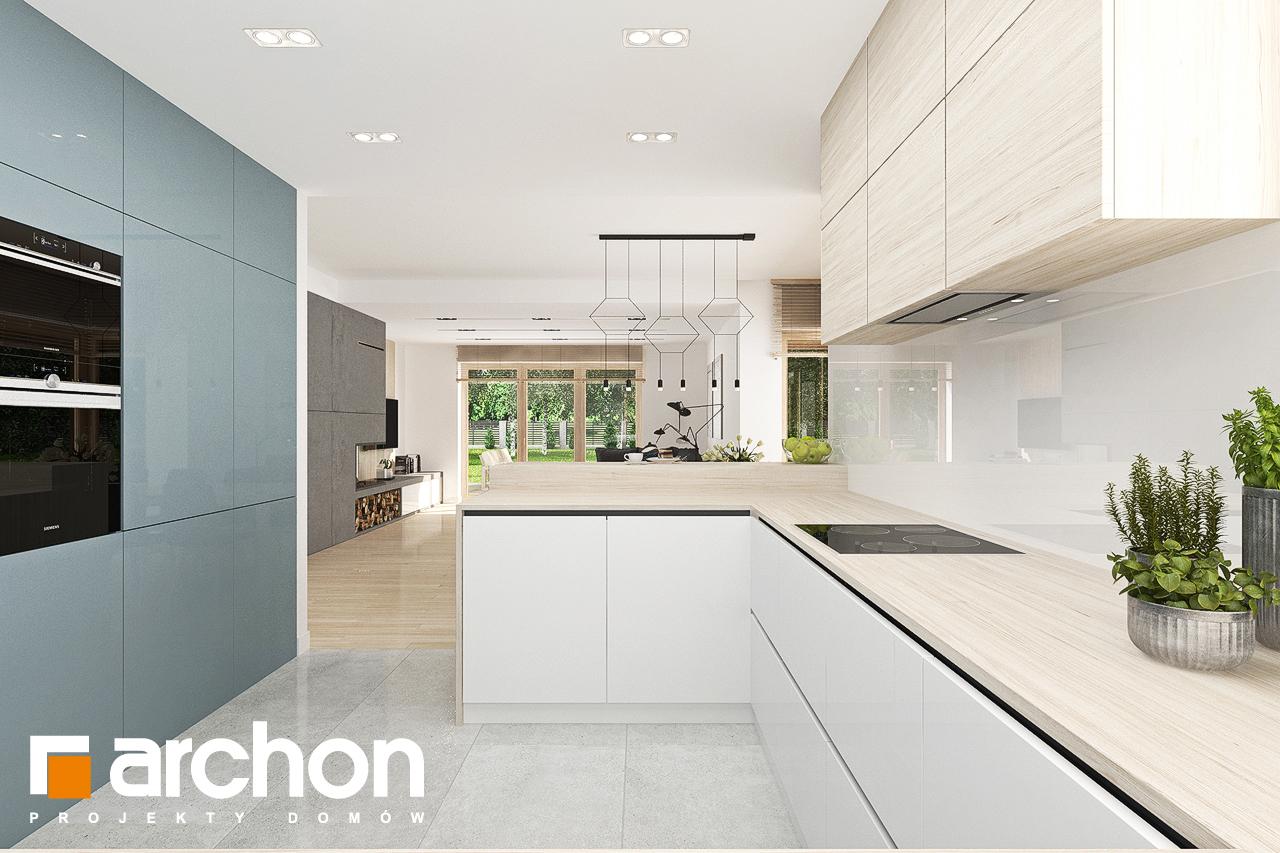 Проект будинку ARCHON+ Будинок у гортензіях 2 (Г2) візуалізація кухні 1 від 2