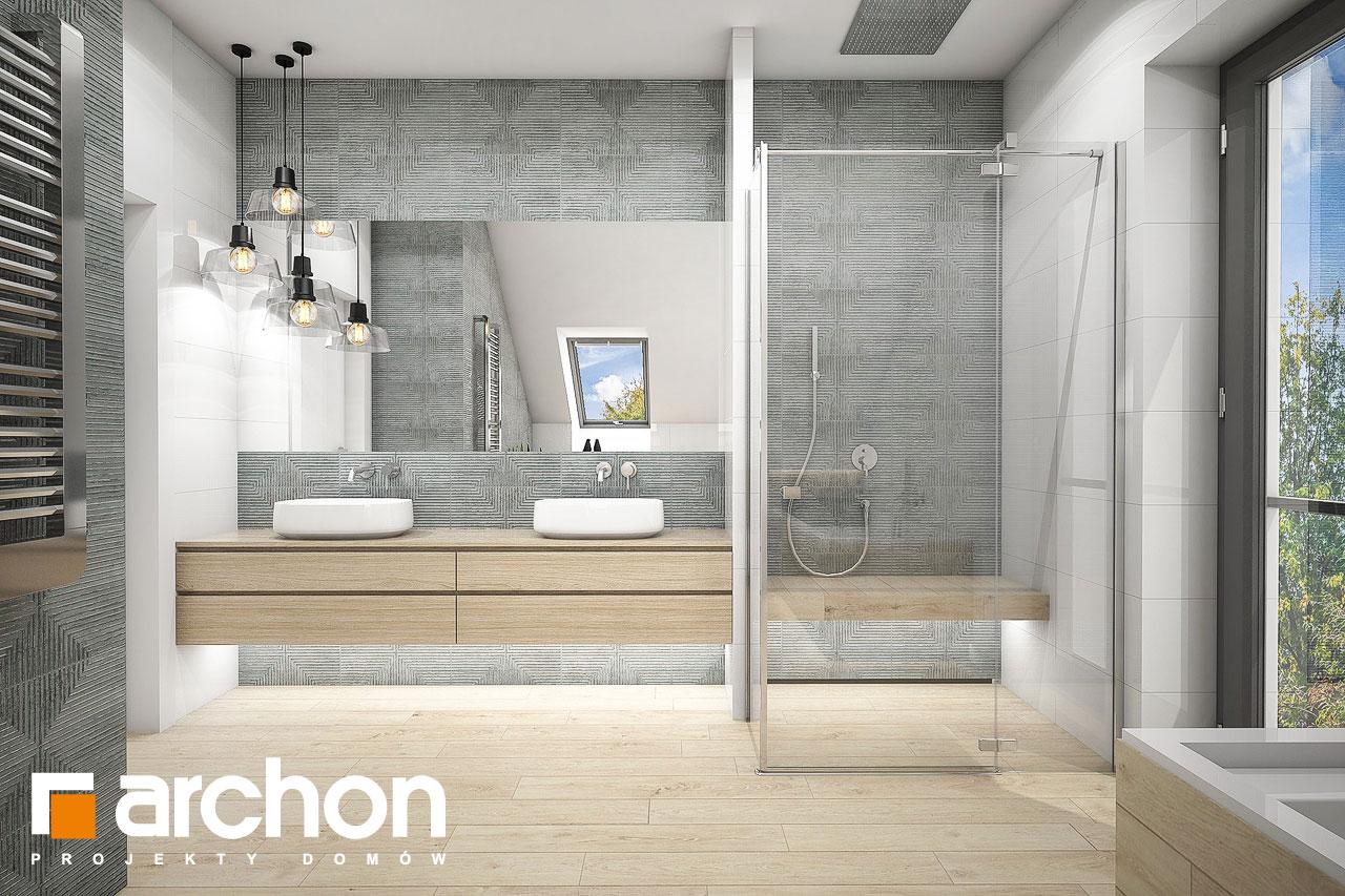Проект будинку ARCHON+ Будинок у гортензіях 2 (Г2) візуалізація ванни (візуалізація 3 від 1)