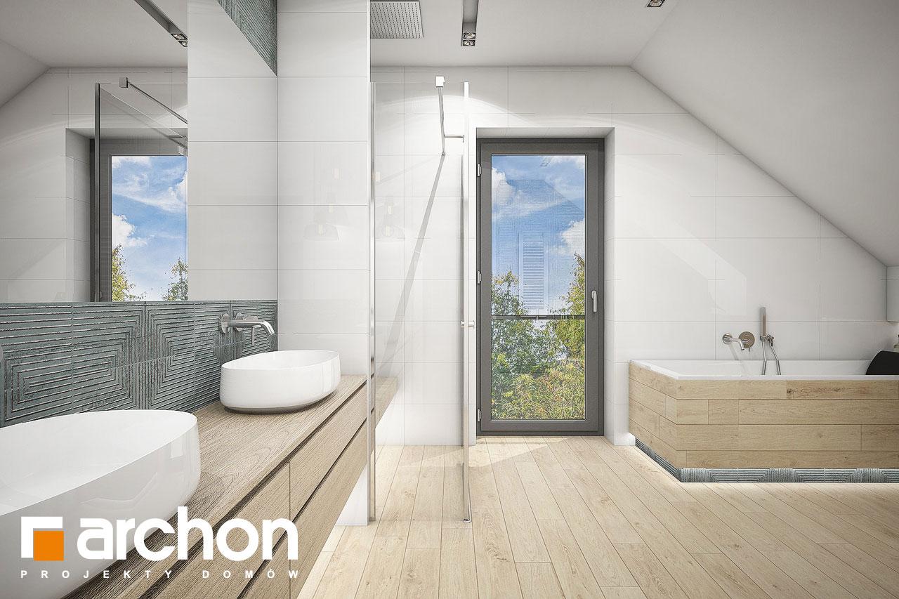 Проект будинку ARCHON+ Будинок у гортензіях 2 (Г2) візуалізація ванни (візуалізація 3 від 2)