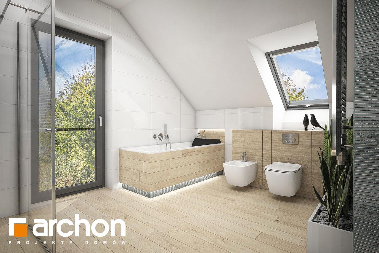 Проект будинку ARCHON+ Будинок у гортензіях 2 (Г2) візуалізація ванни (візуалізація 3 від 3)