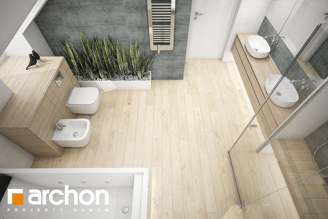 Проект будинку ARCHON+ Будинок у гортензіях 2 (Г2) візуалізація ванни (візуалізація 3 від 4)