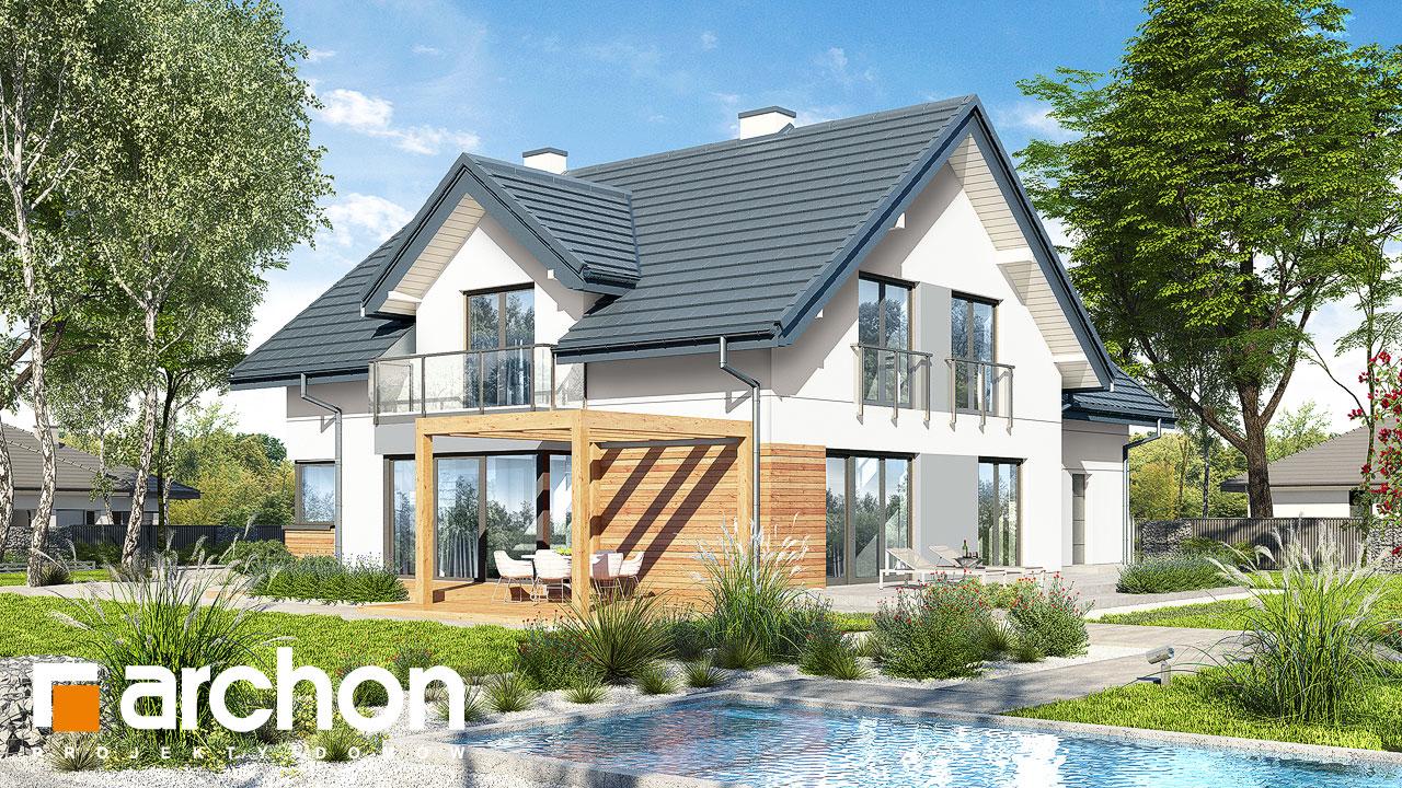 Проект будинку ARCHON+ Будинок у гортензіях 2 (Г2) Вид 2