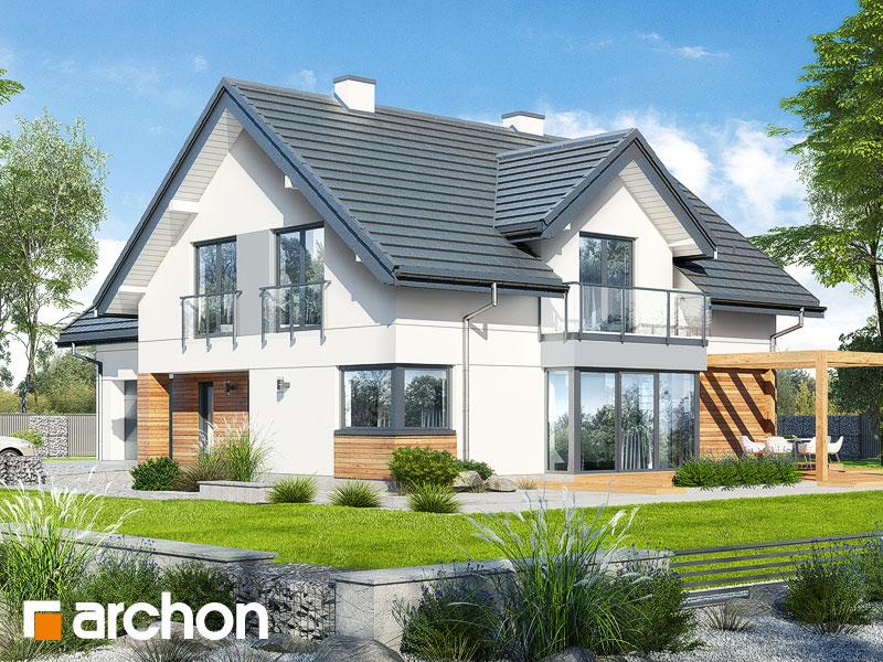 Проект будинку ARCHON+ Будинок у гортензіях 2 (Г2) Вид 1