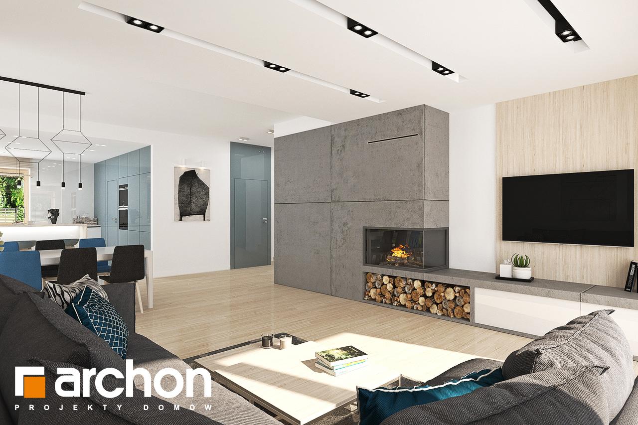 Проект будинку ARCHON+ Будинок у гортензіях 2 (Г2) денна зона (візуалізація 1 від 1)