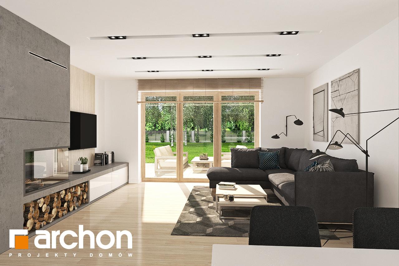 Проект будинку ARCHON+ Будинок у гортензіях 2 (Г2) денна зона (візуалізація 1 від 4)