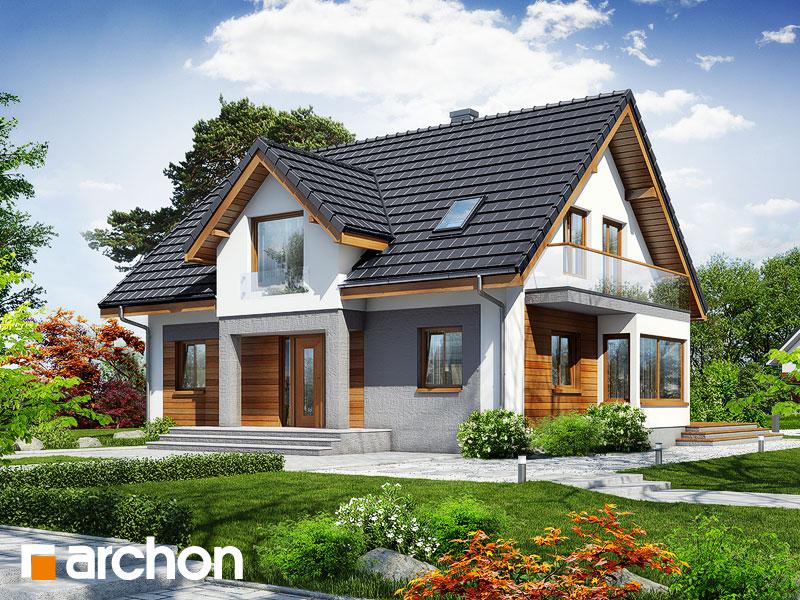 Проект будинку ARCHON+ Будинок в мірабеллі вер.2 стилізація 3