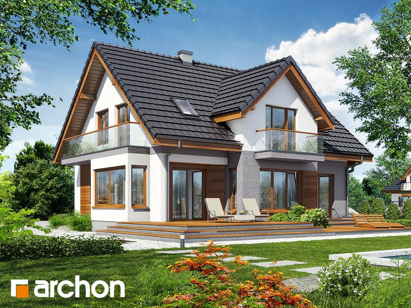 Проект будинку ARCHON+ Будинок в мірабеллі вер.2 стилізація 4