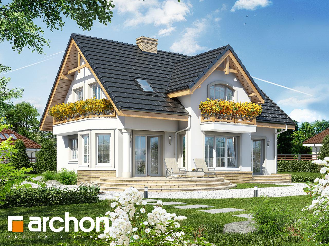 Проект будинку ARCHON+ Будинок в мірабеллі вер.2 Вид 2