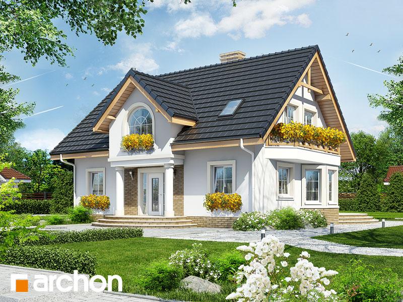 Проект будинку ARCHON+ Будинок в мірабеллі вер.2 Вид 1