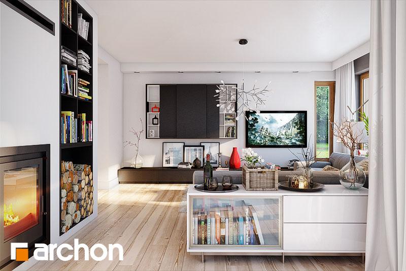 Проект будинку ARCHON+ Будинок в мірабеллі вер.2 денна зона (візуалізація 1 від 1)