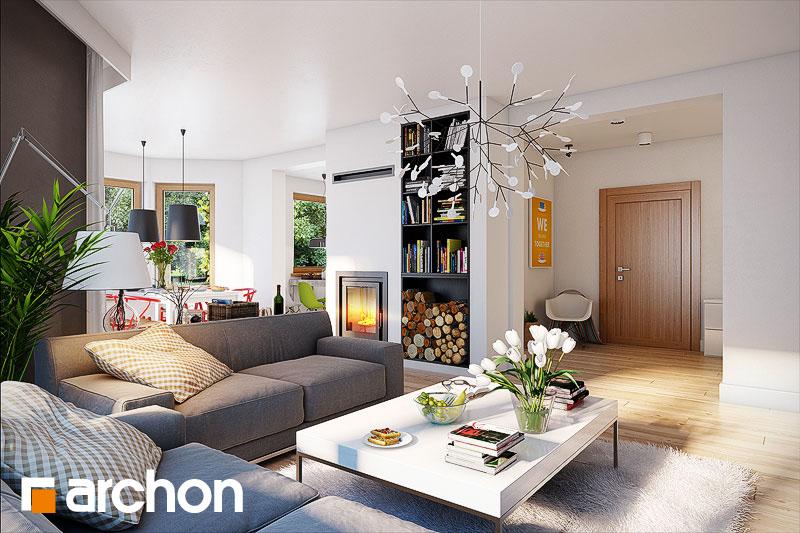 Проект будинку ARCHON+ Будинок в мірабеллі вер.2 денна зона (візуалізація 1 від 2)