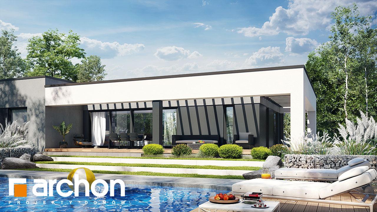 Проект дома ARCHON+ Дом в навлоциях 5 (Г2) стилизация 3