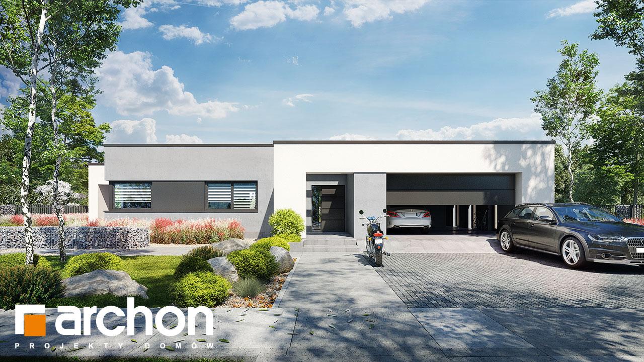 Проект дома ARCHON+ Дом в навлоциях 5 (Г2) стилизация 4