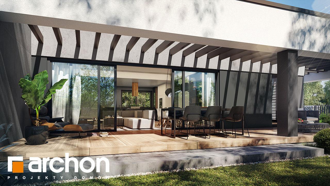 Проект дома ARCHON+ Дом в навлоциях 5 (Г2) стилизация 5