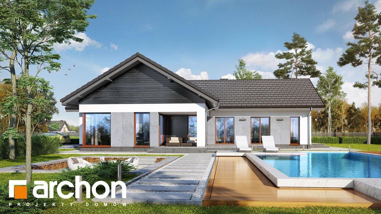 Проект будинку ARCHON+ Будинок у відличках Вид 2