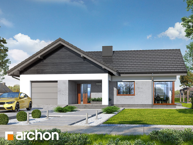 Проект будинку ARCHON+ Будинок у відличках Вид 1