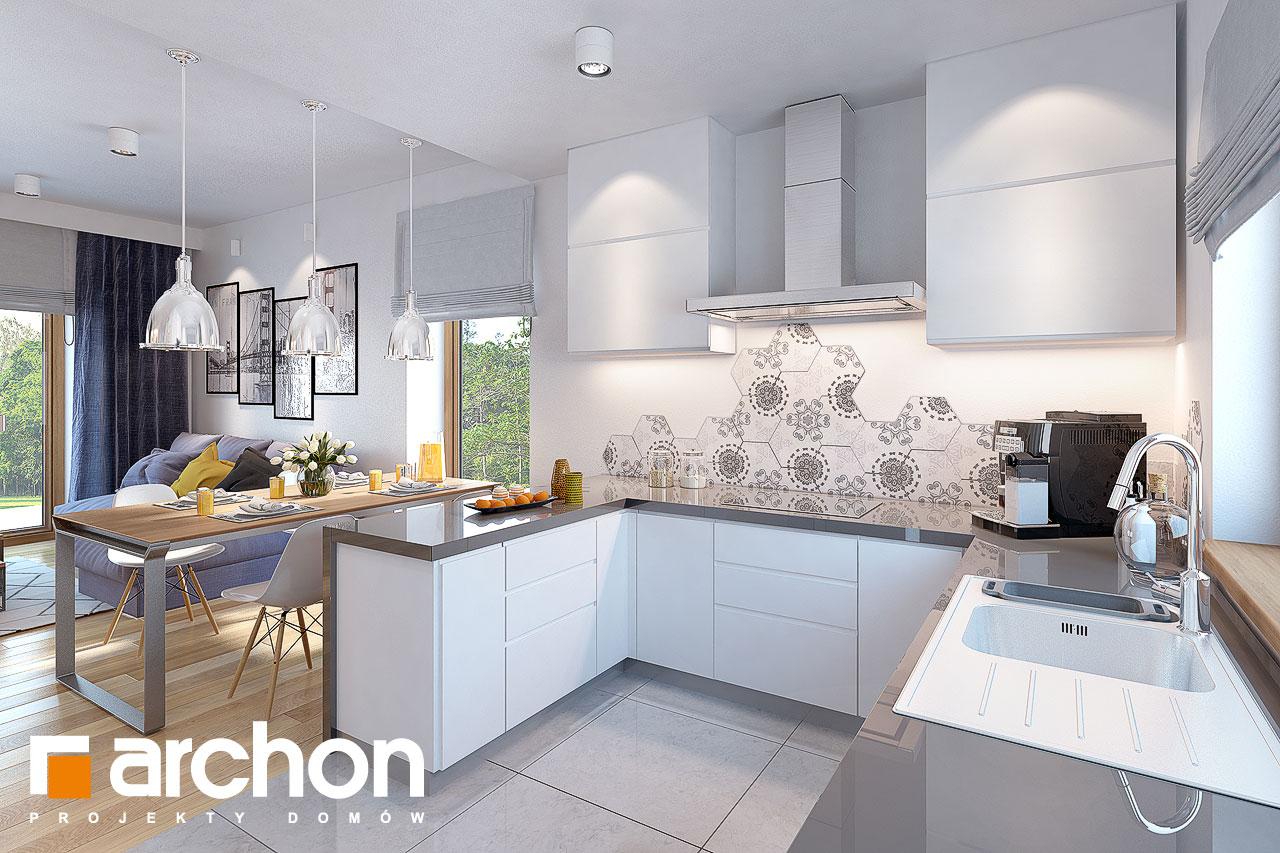 Проект будинку ARCHON+ Будинок у вівсянніці візуалізація кухні 1 від 2