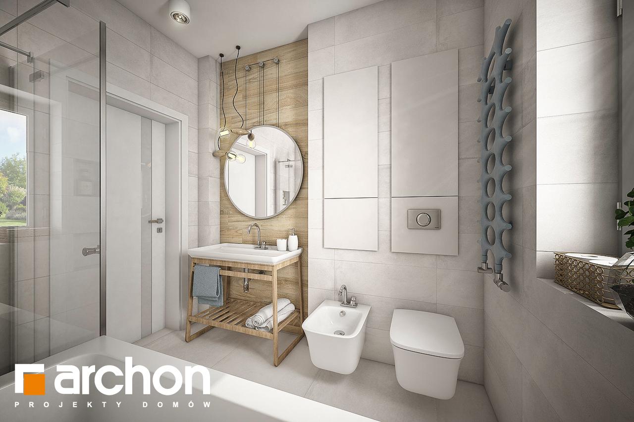 Проект будинку ARCHON+ Будинок у вівсянніці візуалізація ванни (візуалізація 3 від 2)
