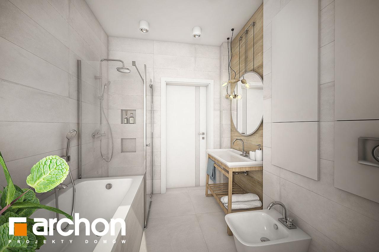 Проект будинку ARCHON+ Будинок у вівсянніці візуалізація ванни (візуалізація 3 від 3)