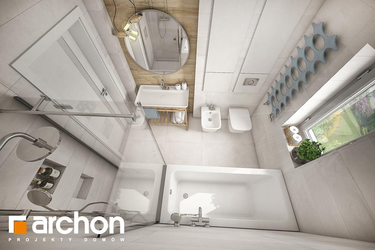 Проект будинку ARCHON+ Будинок у вівсянніці візуалізація ванни (візуалізація 3 від 4)