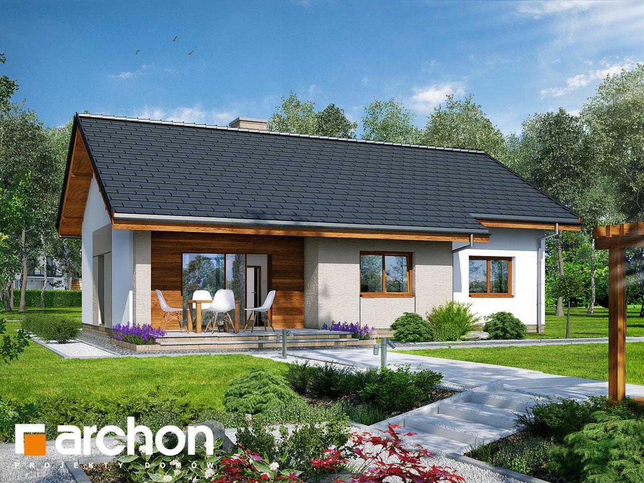 Проект будинку ARCHON+ Будинок у вівсянніці Вид 2