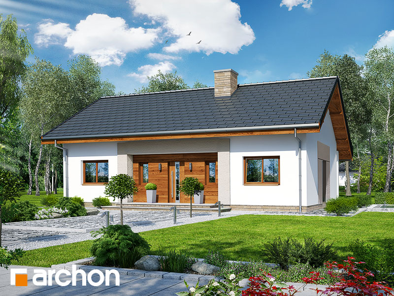 Проект будинку ARCHON+ Будинок у вівсянніці Вид 1