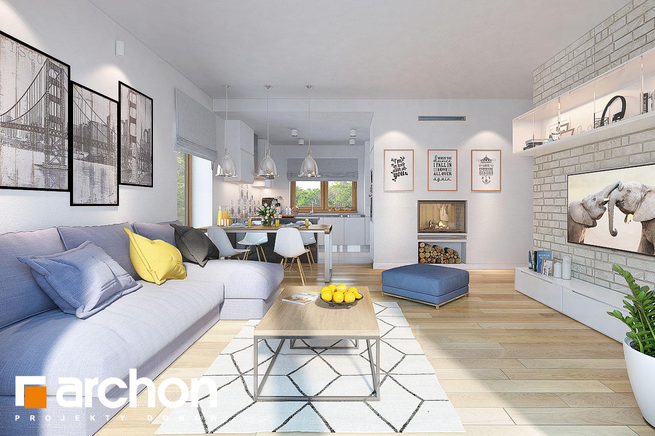 Проект будинку ARCHON+ Будинок у вівсянніці денна зона (візуалізація 1 від 1)