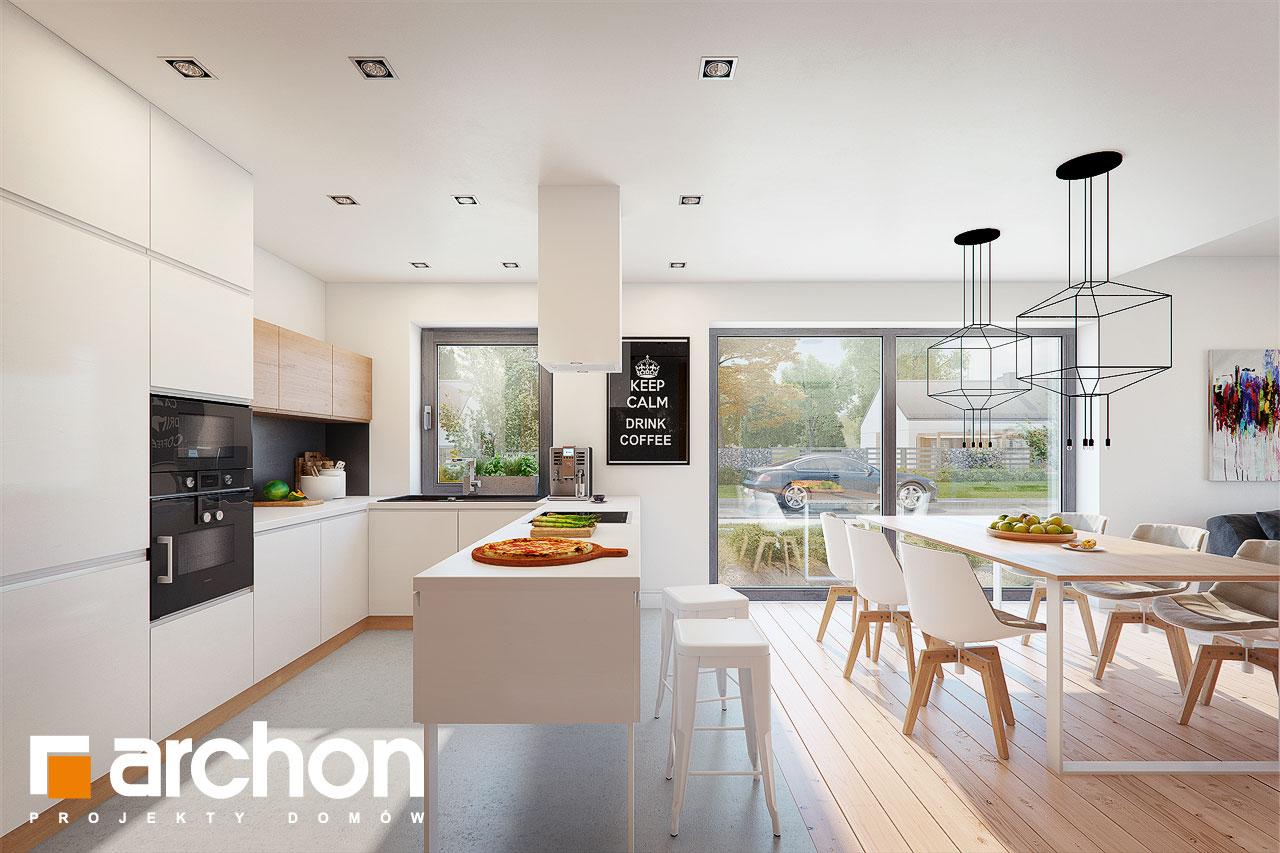 Проект будинку ARCHON+ Будинок під помаранчею (СМ) візуалізація кухні 1 від 2
