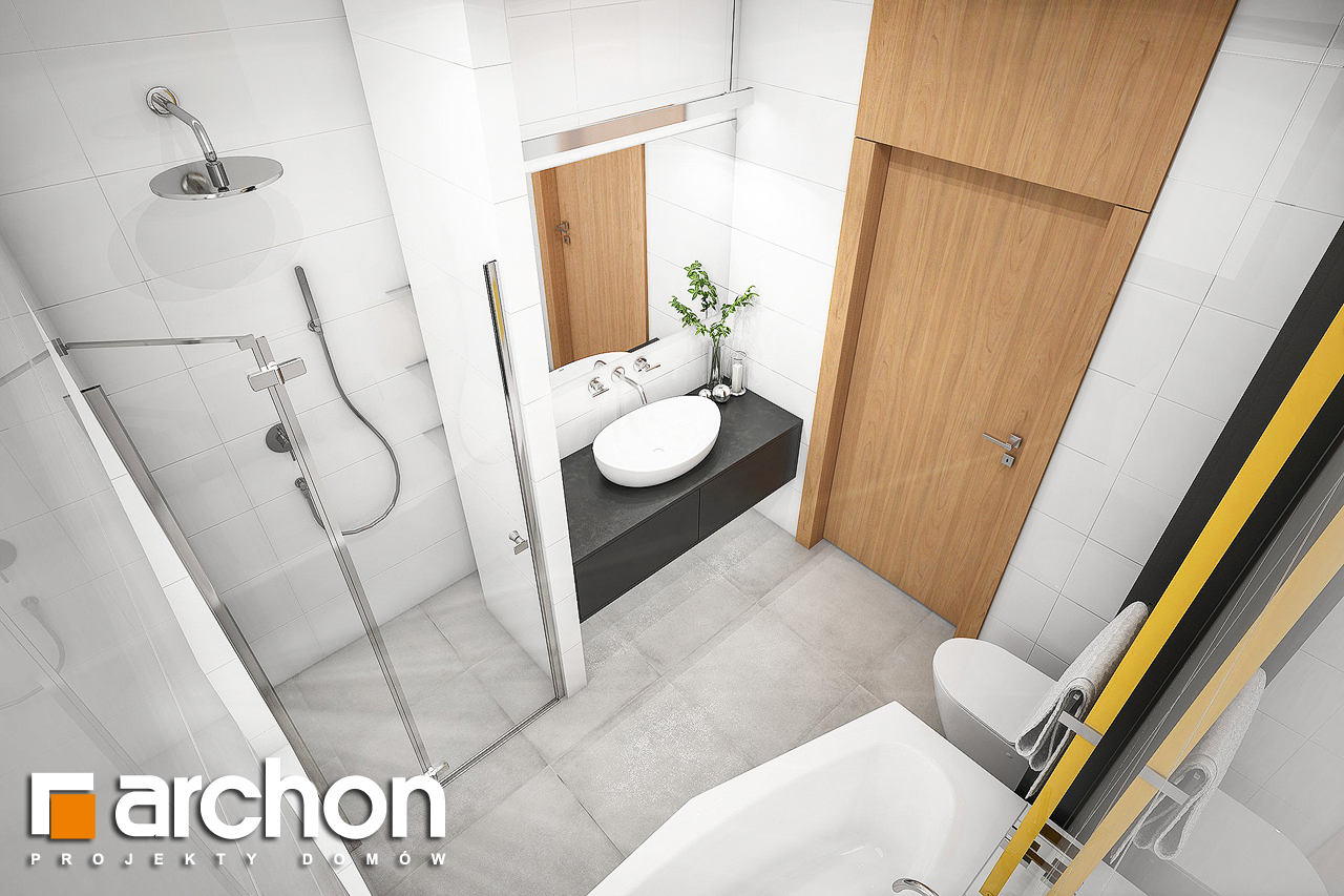 Проект будинку ARCHON+ Будинок під помаранчею (СМ) візуалізація ванни (візуалізація 3 від 4)