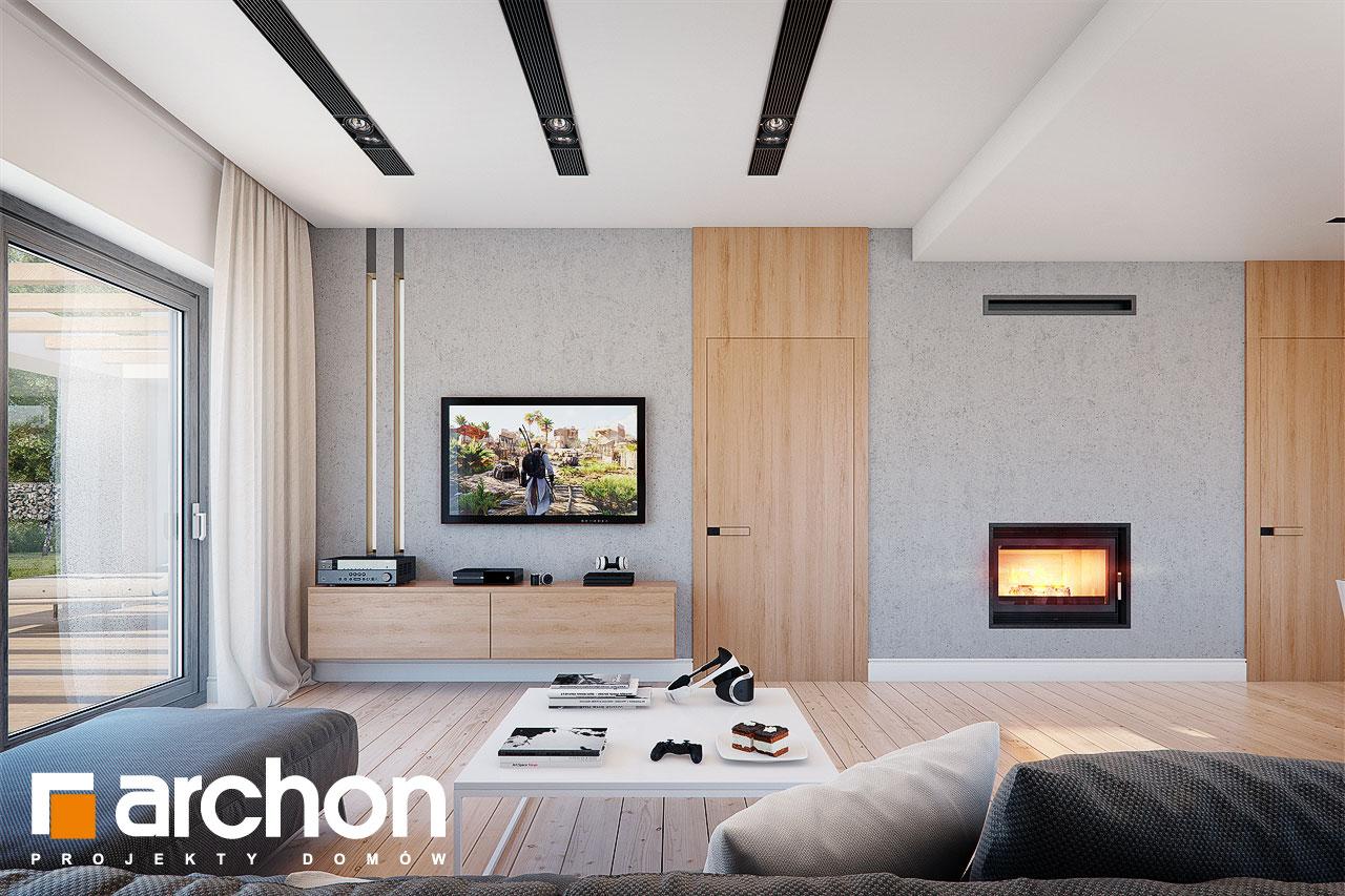 Проект будинку ARCHON+ Будинок під помаранчею (СМ) денна зона (візуалізація 1 від 1)
