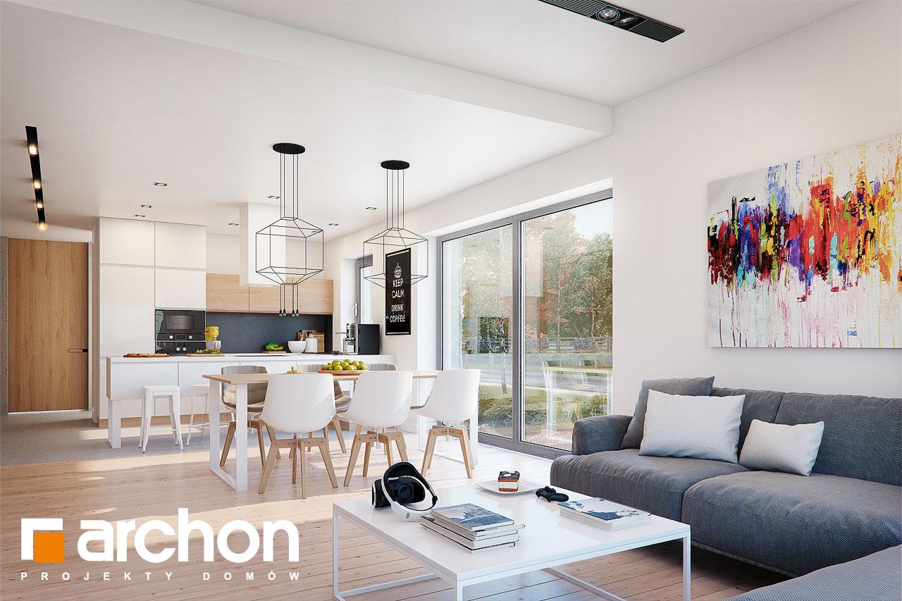 Проект будинку ARCHON+ Будинок під помаранчею (СМ) денна зона (візуалізація 1 від 2)