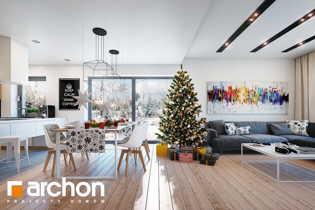 Проект будинку ARCHON+ Будинок під помаранчею (СМ) денна зона (візуалізація 1 від 4)