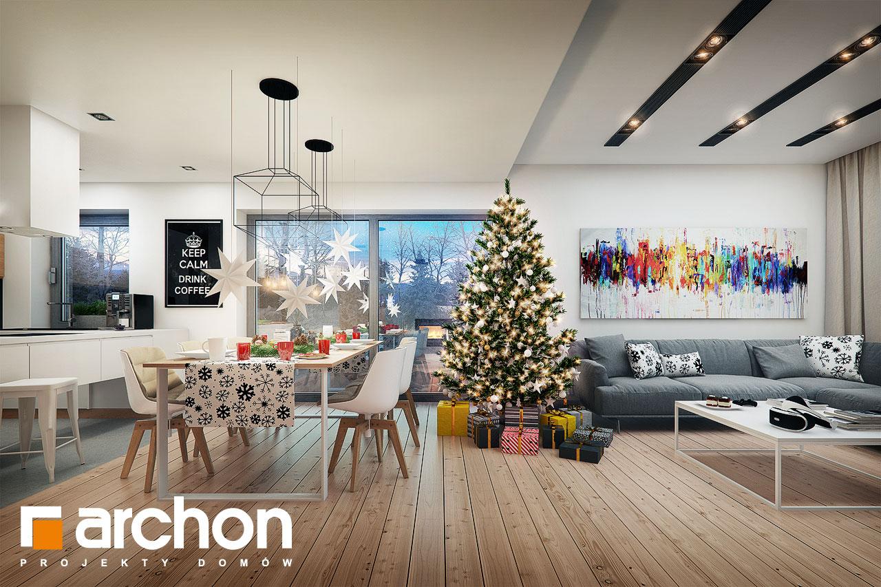 Проект будинку ARCHON+ Будинок під помаранчею (СМ) денна зона (візуалізація 1 від 5)