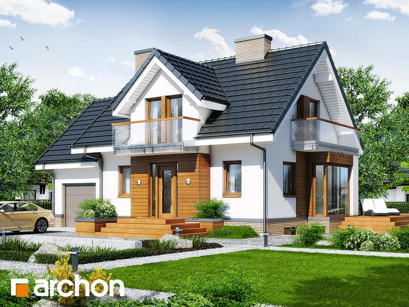 Проект будинку ARCHON+ Будинок під гірською сосною (П) вер.2 стилізація 3