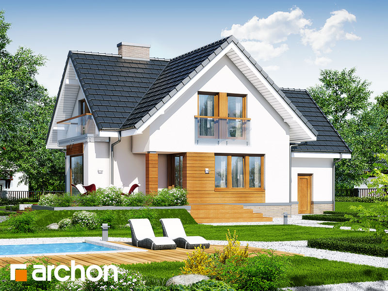 Проект будинку ARCHON+ Будинок під гірською сосною (П) вер.2 стилізація 4