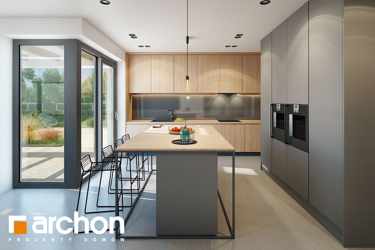 Проект дома ARCHON+ Дом в галантусах (Г2) визуализация кухни 1 вид 1