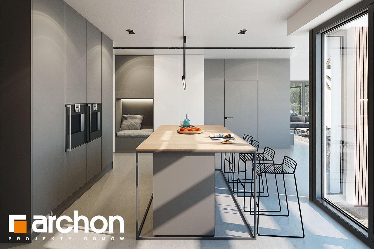 Проект дома ARCHON+ Дом в галантусах (Г2) визуализация кухни 1 вид 2