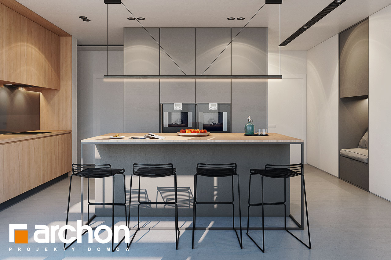 Проект дома ARCHON+ Дом в галантусах (Г2) визуализация кухни 1 вид 3
