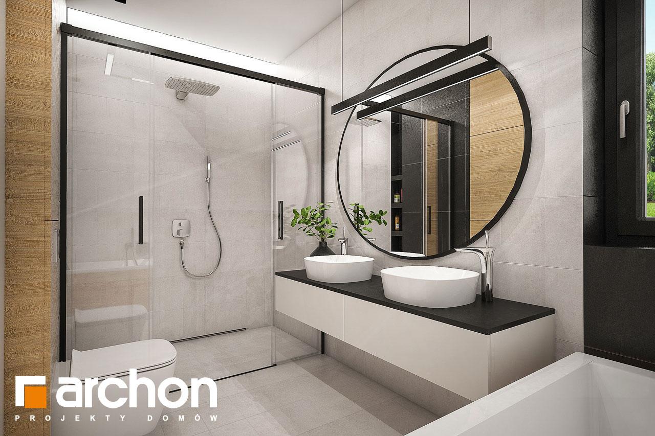 Проект дома ARCHON+ Дом в галантусах (Г2) визуализация ванной (визуализация 3 вид 2)