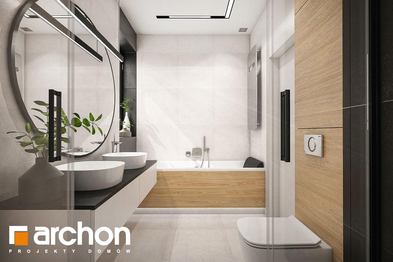 Проект дома ARCHON+ Дом в галантусах (Г2) визуализация ванной (визуализация 3 вид 3)