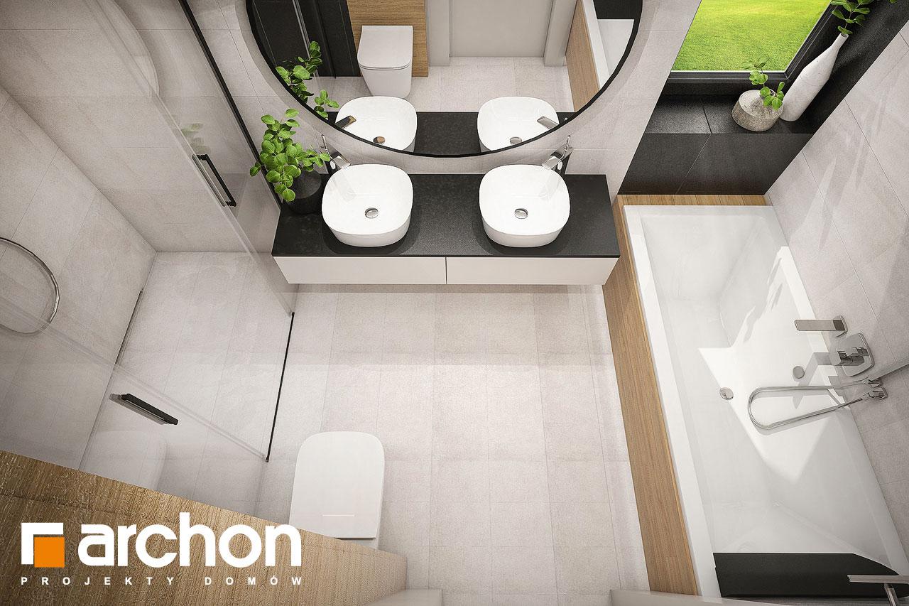 Проект дома ARCHON+ Дом в галантусах (Г2) визуализация ванной (визуализация 3 вид 4)