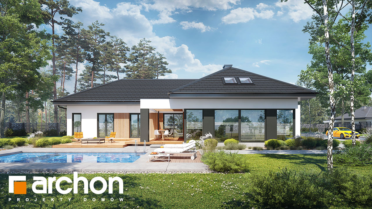 Проект дома ARCHON+ Дом в галантусах (Г2) Вид 2