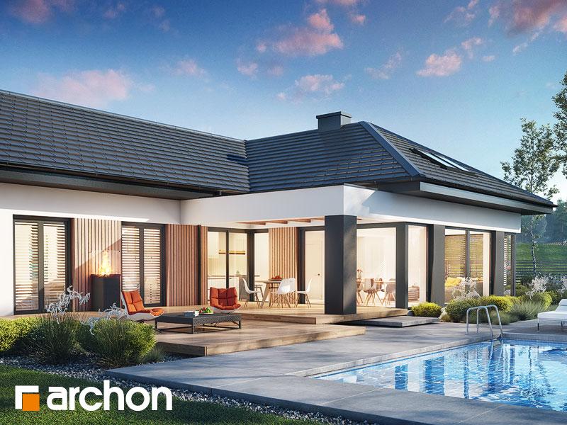 Проект дома ARCHON+ Дом в галантусах (Г2) Вид 1