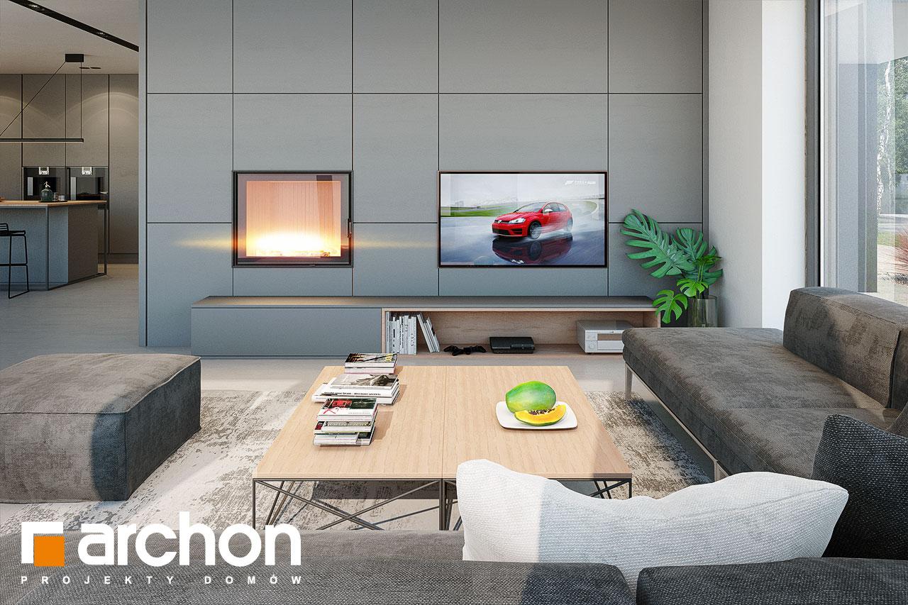 Проект дома ARCHON+ Дом в галантусах (Г2) дневная зона (визуализация 1 вид 1)