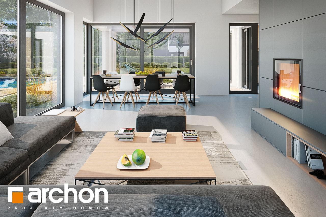 Проект дома ARCHON+ Дом в галантусах (Г2) дневная зона (визуализация 1 вид 2)